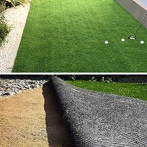 Terrasse Deko /• 100x100 cm 50 mm /• Kunstrasenteppich wasserdurchl/ässig /& UV-best/ändig /• Garten casa pura Kunst-Rasen in 6 H/öhen /• Nat/ürlich weich in Echtrasen-Optik /• Rasen-Teppich Lemon