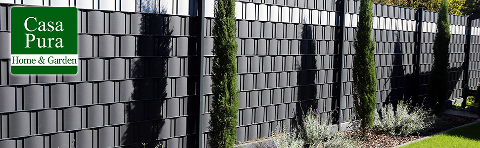 Sichtschutzstreifen Stabmattenzaun Befestigungsclips Balkon PVC Sichtschutz