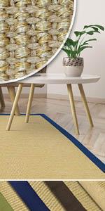 Teppich sisal sisalteppich teppiche wohnzimmer natur jute natürlich mit bordüre