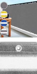 casa pura Balkon Sichtschutz UV-Schutz gelb-wei/ß gestreift 90x500cm wetterbest/ändiges und pflegeleichtes HDPE-Spezialgewebe