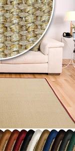 teppich sisalteppich teppiche sisal bordüre wunschfarbe natur natürlich wohnzimmerteppich