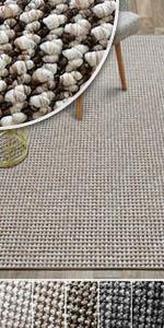 teppich teppiche wohnzimmer wohnzimmerteppich braun beige grau boucle weich