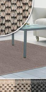 teppich teppiche sisalteppich sisal optik sisaloptik flach flachgewebe pflegeleicht