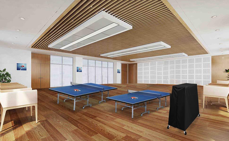 HOGAR AMO 210D Polysterfasern Tischtennisplatte Abdeckung Schutzhülle  Wetterfest TischTennis Abdeckhaube Ping Pong Tisch Wasserdichte Plane (60  ...