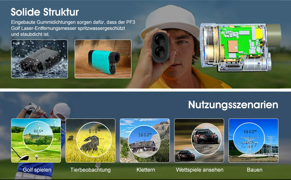 Suaoki 600m Golf Entfernungsmesser Test : Suaoki m golf messer amazon baumarkt