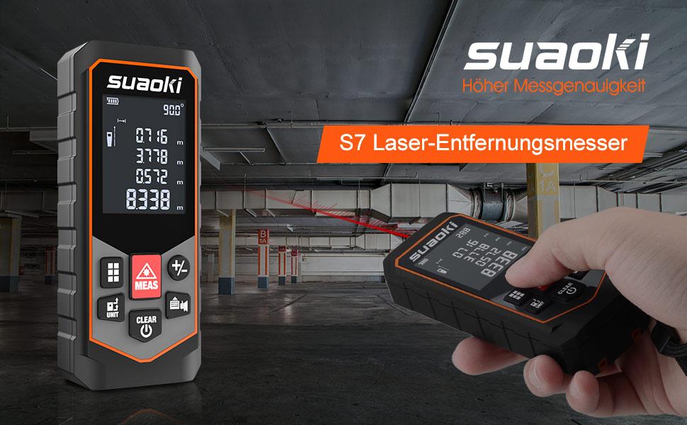 Suaoki m laser entfernungsmesser messung von distanz flächen