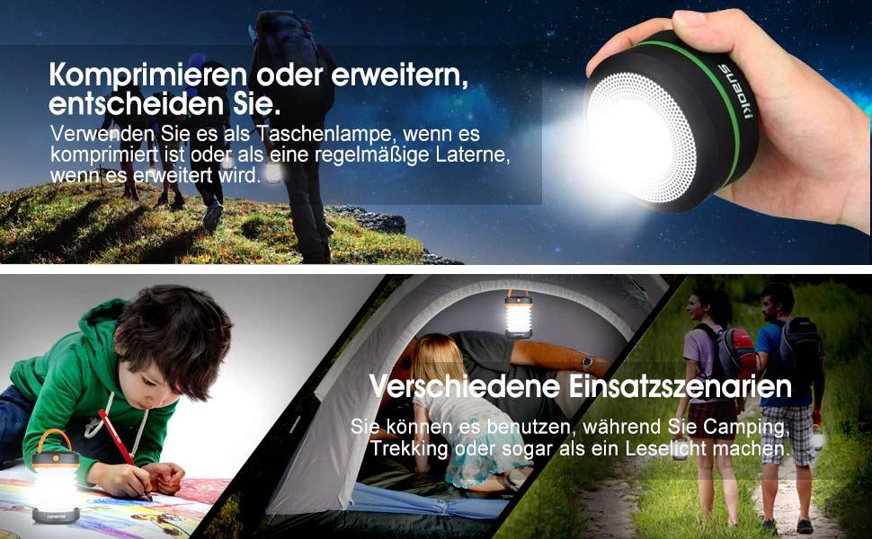Suaoki solar campinglampe faltbar camping zelt laterne mit