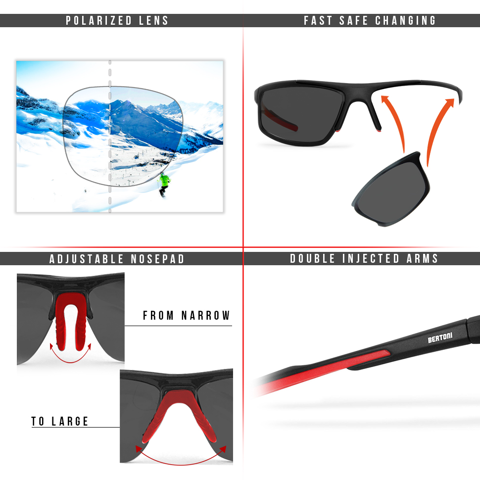 Sonnenbrille Sportbrille polarisierende Gläser polarized lens