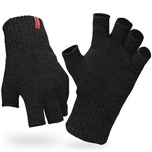Flauschige Strick Handschuhe ohne Finger Winterhandschuhe Winter fingerlos NEU!