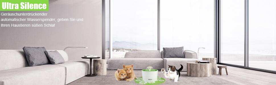 Geräuschunterdrückender automatischer Wasserspender, geben Sie und Ihren Haustieren süßen Schlaf