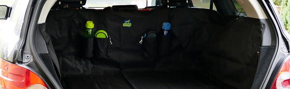 Jekam Kofferraum-Schutz Hund f/ür alle g/ängigen Kombis SUV und Van mit praktischer Transporttasche strapazierf/ähige Kofferraumschondecke mit Seitenschutz