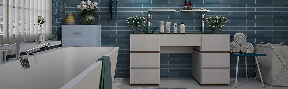 WohnDirect - Felpudo para baño, suave, lavable, de secado rápido