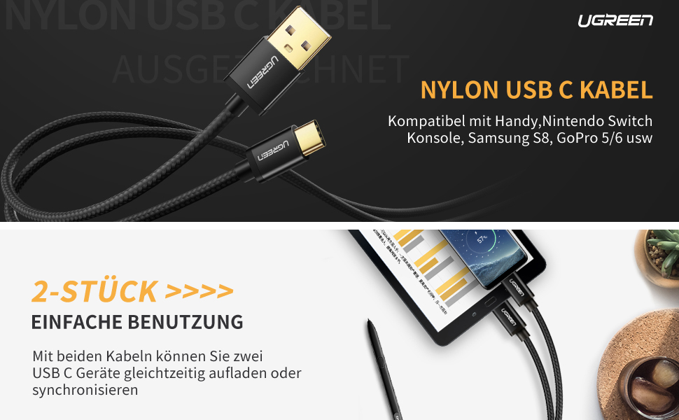 Ladegerät Adapter Type C Usb Kabel One Plus 5 Dependable Schw.rot Kfz Dual Auto Univers