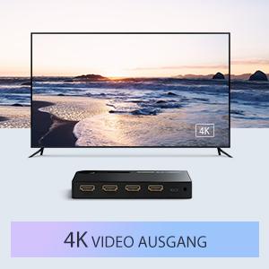 HDR /& HDCP 2.2 Pass-Through /& 3D-Effekt mit IR-Fernbedienung und USB-Kabel Stecker nicht im Lieferumfang enthalten HDMI Switch 5 in 1 Out Auto HDMI Switch 5-Port Unterst/ützung 4k @ 60Hz