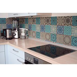 mur carrelé de cuisine carrelage adhesif mural stickers mosaique carrelage marrocain