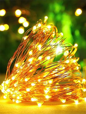Lichterkette LED Kupferdraht SEALIGHT 20m 200er LED Kupfer Lichterketten Warmwei/ß mit Schalter Sternenlichterkette f/ür Zimmerdekoration DIY Dekoration Weihnachten Party Hochzeit Geburstag Beleuchtung