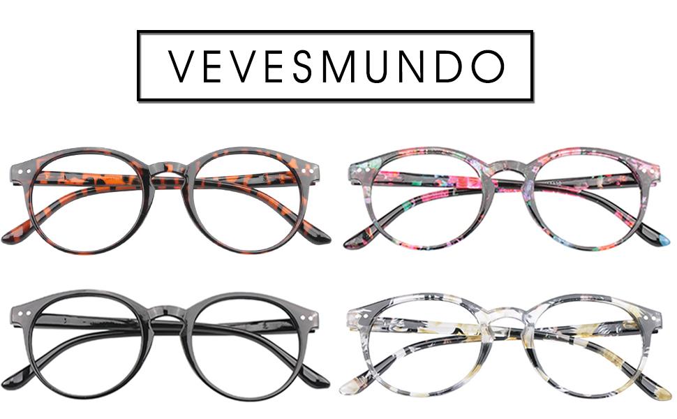 VEVESMUNDO Lesebrillen Damen Herren Federscharnier Lesehilfe Augenoptik Vintage Retro Qualität Vollrandbrille 1.0 1.25 1.5 1.75 2.0 2.25 2.5 3.0 3.5 (1 Stück Leopard, 1.75)