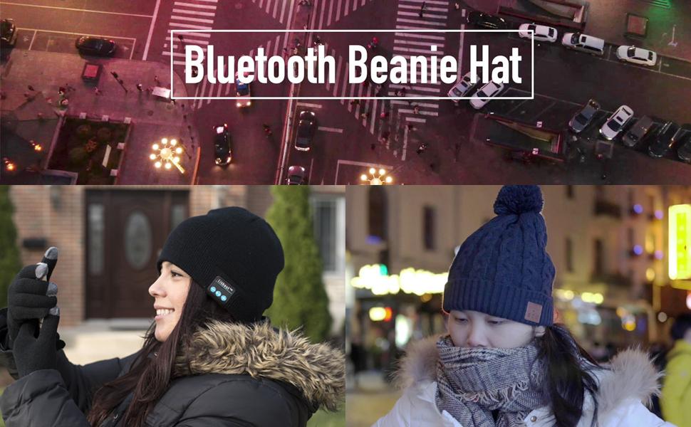 Winter Beanie M/ütze mit Musik Phone Stereo-Kopfh/örer-Lautsprecher-Mikrofon,Beanie M/ütze Kompatibel mit Die Meisten Ger/äte,Unisex Weihnachtsgeschenke By Lisbest/™ Drahtlose Bluetooth