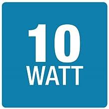 10 W.