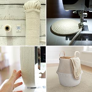 Aufbewahrungskorb aus Baumwolle Seil