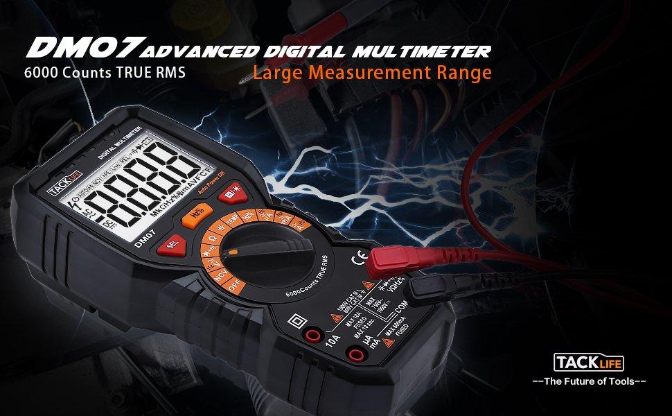 Digital multimeter tacklife dm digital multimeter mit auto