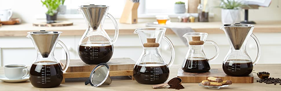 apace living sultrybrew pour over kaffeebereiter 1l inkl kaffeeschaufel und korkdeckel. Black Bedroom Furniture Sets. Home Design Ideas
