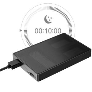 Inateck Carcasa Disco Duro con Rejilla Metálica para SATA HDD/SSD de 2.5 Pulgadas, Caja Externa con USB 3.0, soporta UASP, Negro, SA01002