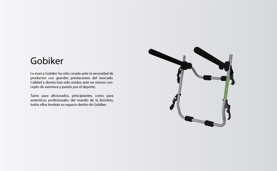GO BIKER Gobiker Portabicicletas de portón Trasero Easy V3: Amazon ...