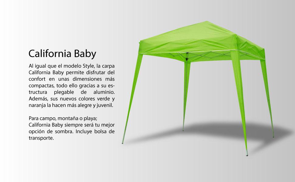 SmartSun Carpa California Baby Verde 3x3m: Amazon.es: Jardín