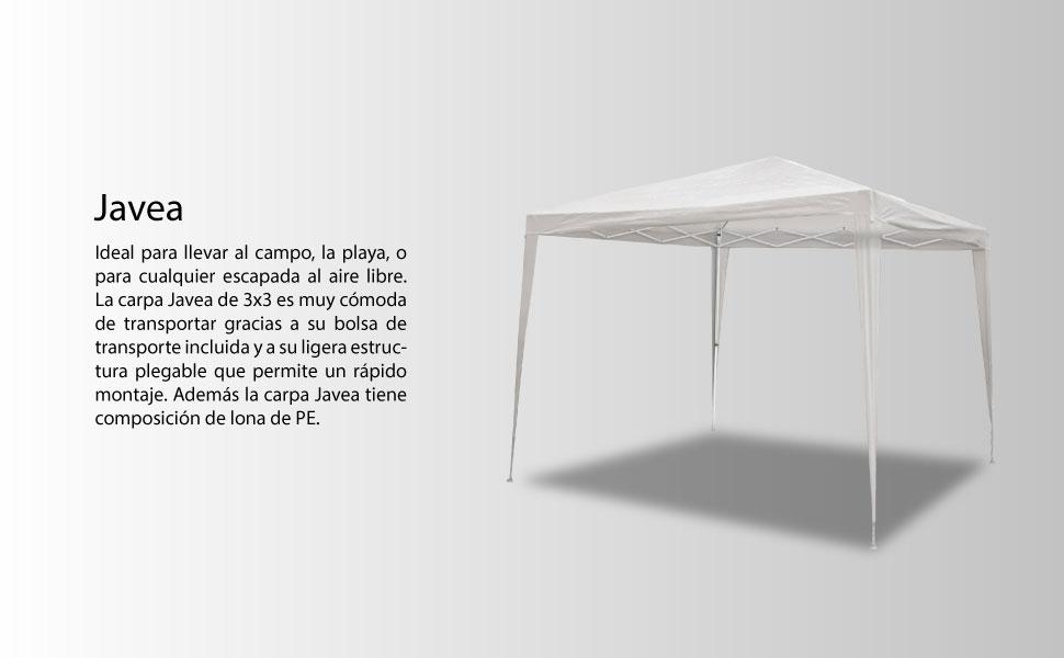 SmartSun Carpa Javea Blanca 3x3m Playa, Campo: Amazon.es: Jardín