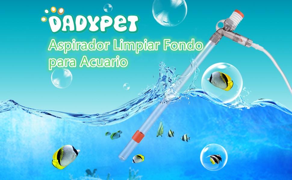 DADYPET Sifon Acuario, Aspirador Limpiar Fondo para Acuario ...