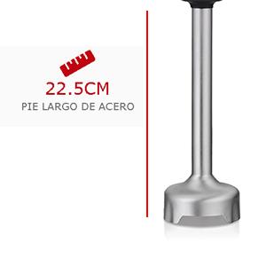 Pie extra resistente de acero inoxidable de 22,5 cm