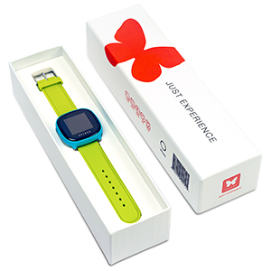 xplora package box green blue watch packaging