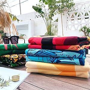 WLZP Toalla de Playa, 100% algodón Absorbente Manta de Playa - 75 ...