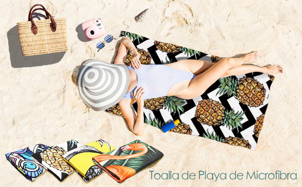 Toalla de Playa WLZP, ¡Disfruta de tu Colorida Vida!