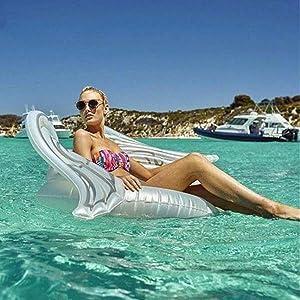 WLZP Hinchable Colchonetas Piscina, Labios Natación Flotador Balsa Fiesta Piscina de con Las Válvulas Rápidas, Fotografía Apoyos, Float Inflable para ...