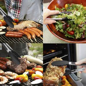 Se usa para una variedad de alimentos, como ensaladas, barbacoa, cubitos de hielo, freír huevos, cocinar tocino, cortar pasta, cocinar salchichas, ...