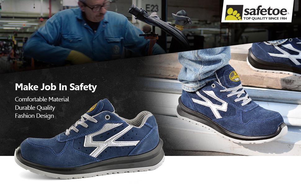 Zapatos de Seguridad para Hombres con Puntera de Fibra de