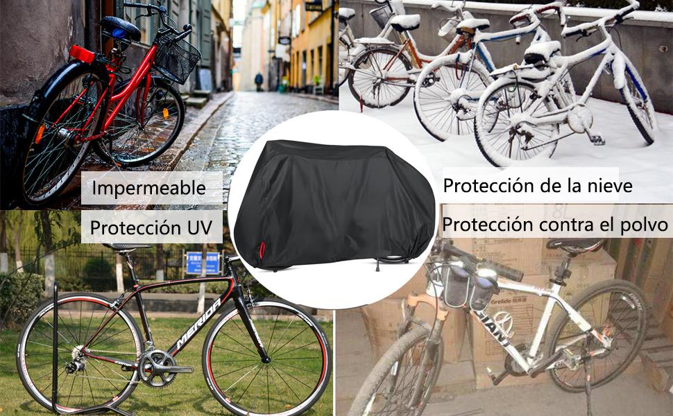 AngLink Funda Bicicleta, 210D Oxford 200 x 110 x 70 cm Cubierta ...