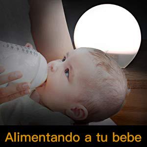AngLink lampara de luz puede usarse como luz para alimientar a un bebe hambriento en mitad de la noche sin desvelar del todo ni a la mama ni al bebe.