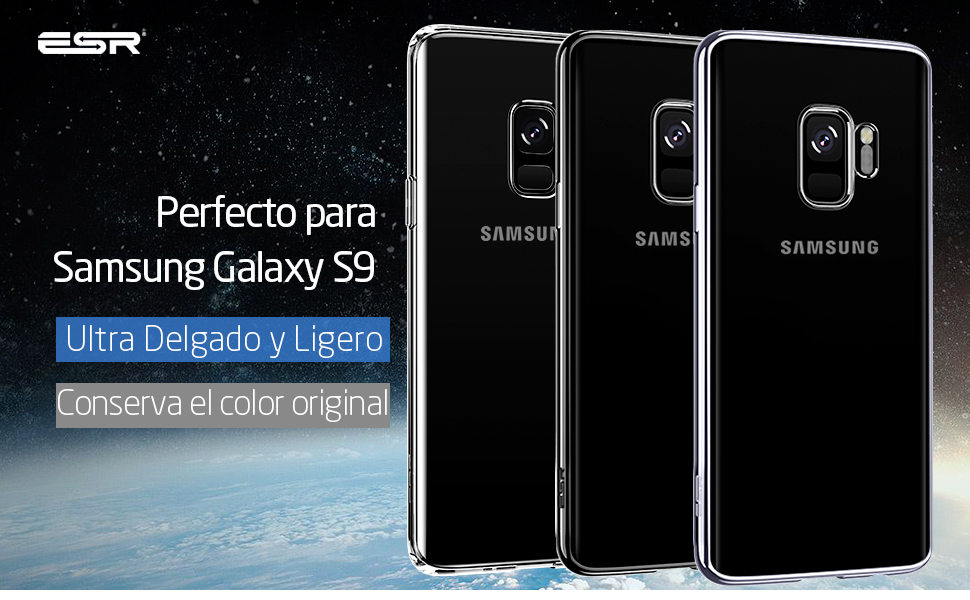 ESR Funda para Samsung S9, Funda Transparente Suave TPU Gel [Ultra Fina] [Protección a Bordes y Cámara] [Compatible con Carga Inalámbrica] Enjaca Samsung Galaxy S9 5.8