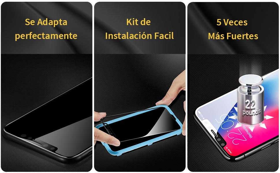 protector pantalla iphone x cristal templado iphone x