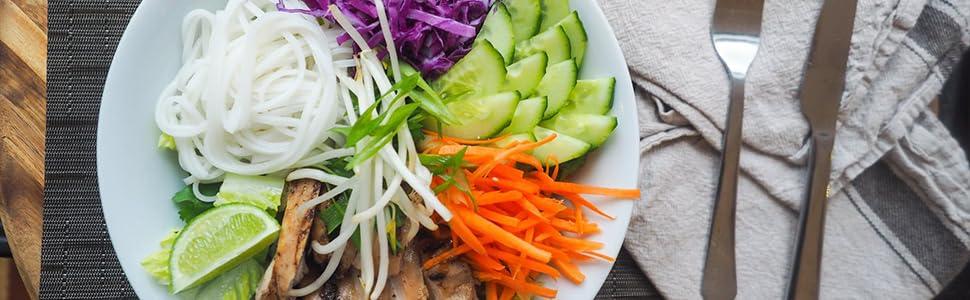 Sedhoom Cortador de Verdura 4 en 1 Rallador de Verduras Calabacin Pasta Espiralizador Vegetal Veggetti Slicer, Espaguetis de Calabacin, Cortador Espiral Manual: Amazon.es: Hogar