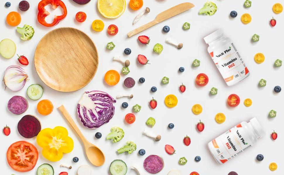 Vitamina B12 Navit Plus | 120 Cápsulas vegetales. Complemento alimenticio con B1, B2, B3 y B6, esenciales para el óptimo cuidado de la salud. Complejo ...