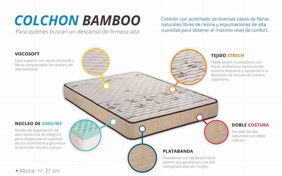 Santino Colchón Bamboo Sleep Confort
