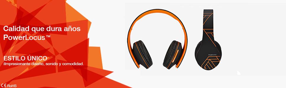 Auriculares con calidad Bluetooth Auriculares con banda suave y Audífonos con sonido estéreo hd