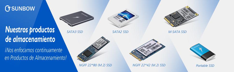 SUNBOW mSATA Mini PCIe 240 GB 256 GB M3 Series SSD Unidad de ...
