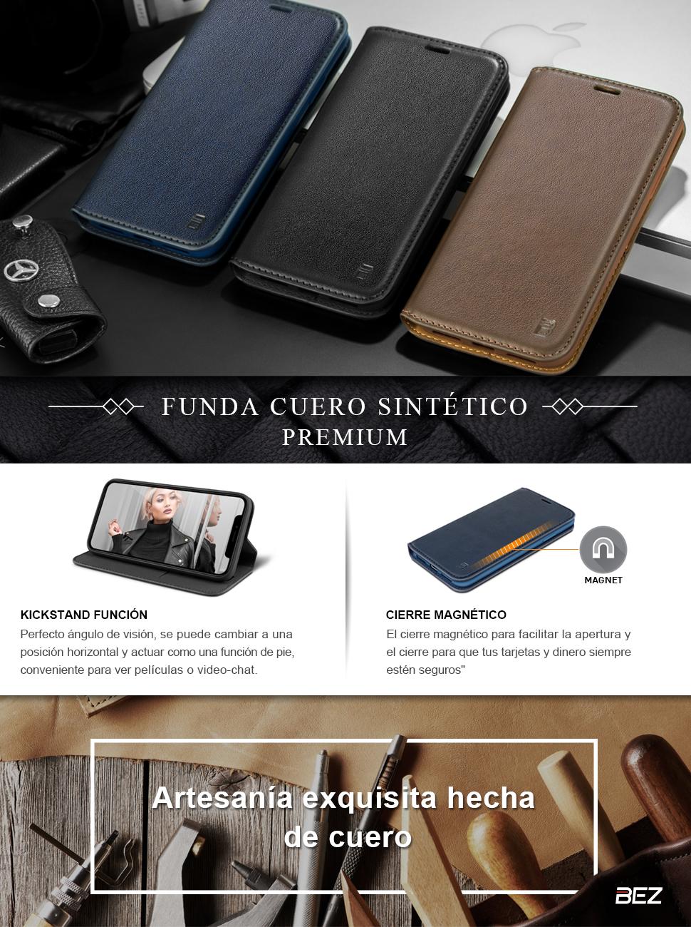 BEZ Funda Huawei Mate 20 Pro, Carcasa Funda Piel con