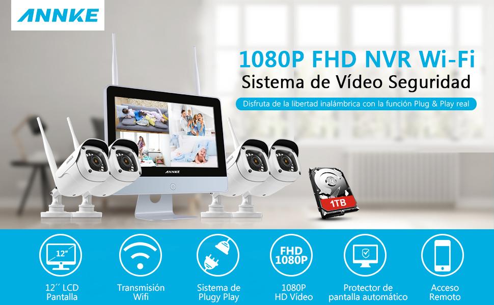 1080P Sistema de seguridad
