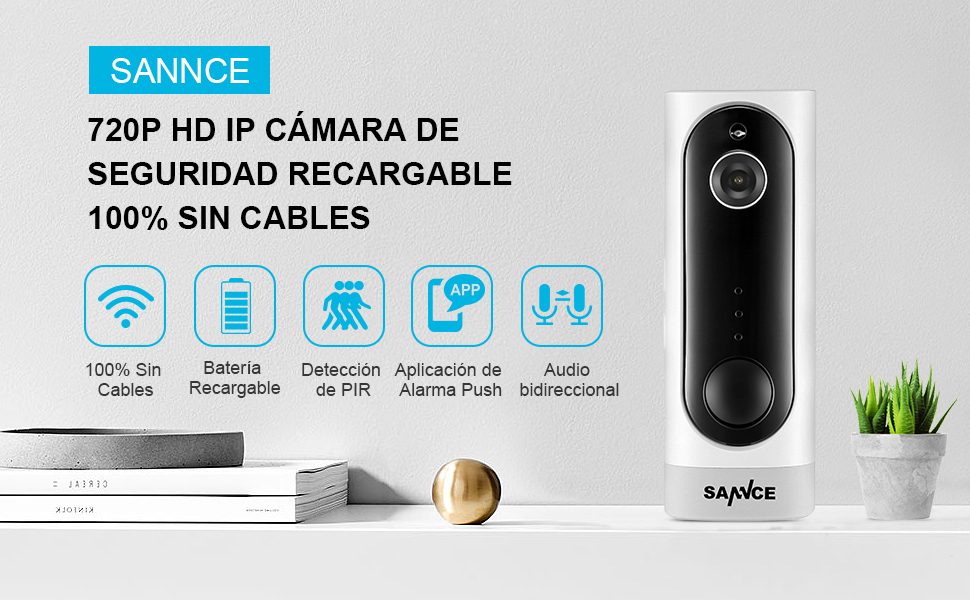 IP Camara recargable